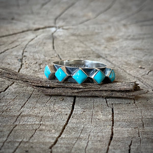 Turquoise Square Stacker Ring