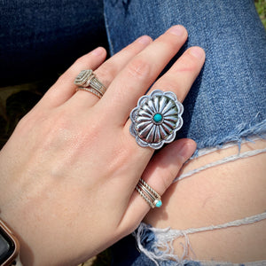 Turquoise Studded Conch Ring