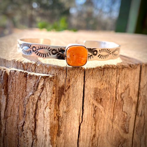 Spiny Oyster Stamped Cuff