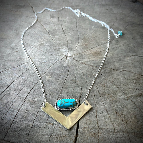Turquoise V Necklace