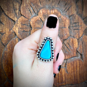 Triangle Turquoise Ring