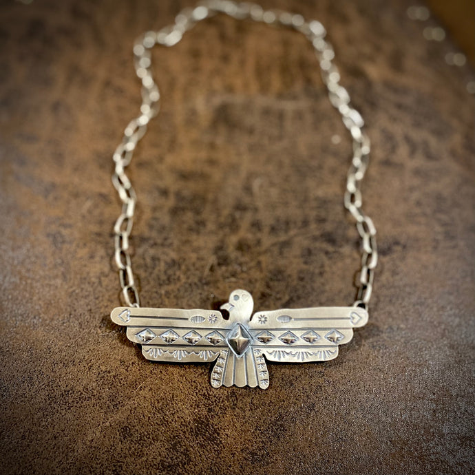 Sterling Thunderbird Necklace