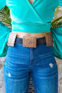 6 Slab Concho Belt