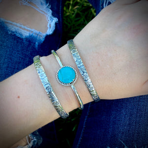 Sterling Flower Bangle