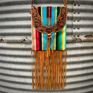 Tooled Serape Crossbody