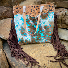Load image into Gallery viewer, Turquoise Acid Wash Bag