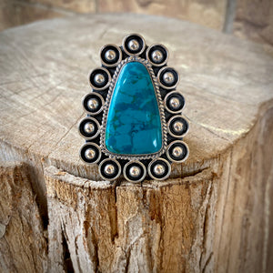 African Turquoise Sterling Ring