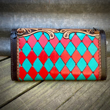 Load image into Gallery viewer, Punchy Tooled Wallet/Crossbody