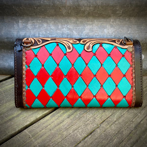 Punchy Tooled Wallet/Crossbody