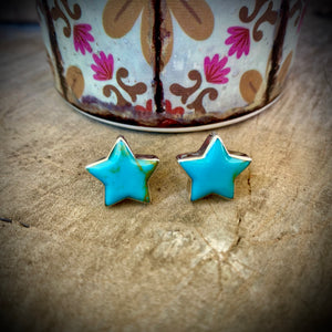 Turquoise Star Studs