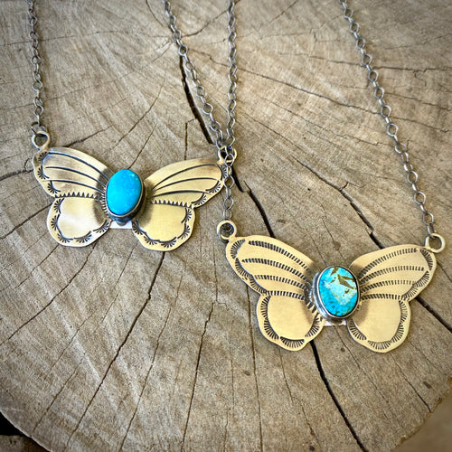 Butterfly Turquoise Necklace