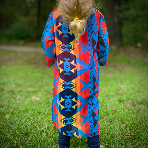 3/4 Sleeve Aztec Duster