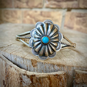 Authentic Turquoise Concho Cuff
