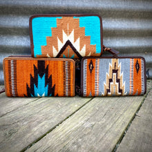 Load image into Gallery viewer, Saddle Blanket Double Zipper Wallets