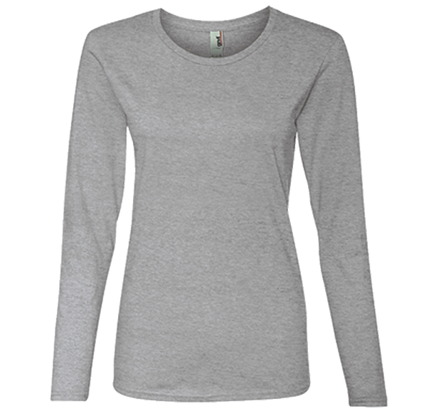 Customizable Anvil Ladies Lightweight Long Sleeve T-Shirt