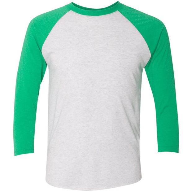 Next Level Tri-Blend 3/4 Sleeve Baseball Raglan T-Shirt