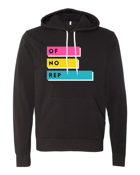 Of No Rep Hoodie Black | Color Bars