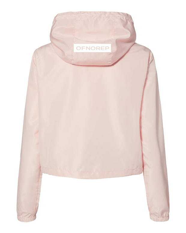 Of No Rep Crop Windbreaker | Blush