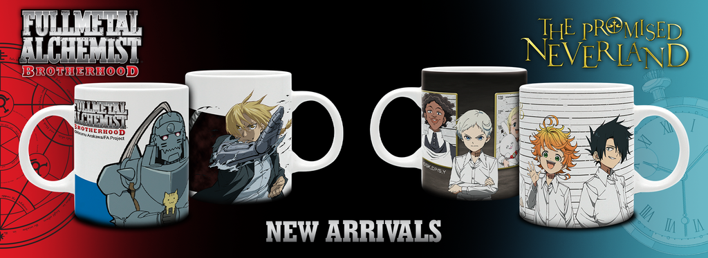 Fullmetal Alchemist: Brotherhood and The Promised Neverland mugs