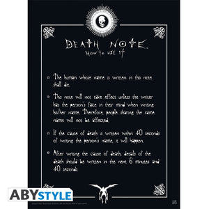 Death Note - Rules Mini Poster