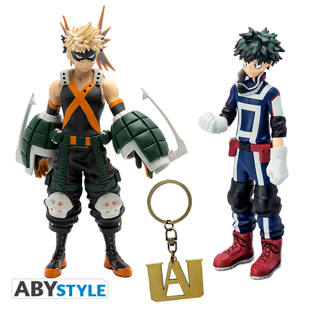 My Hero Academia - Figurine Twin Pack with FREE U.A. Keychain