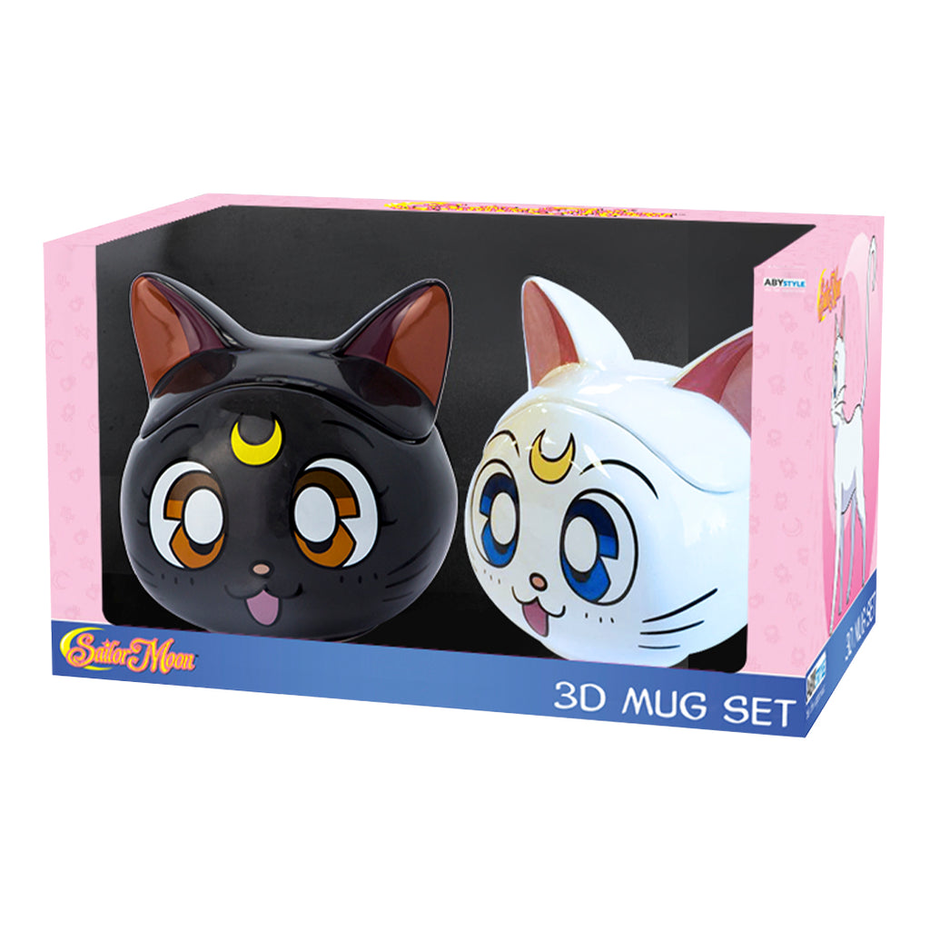 Sailor Moon - Luna & Artemis 3D Mug Gift Set