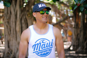 Maui Surfing Co. Tee - White Tank