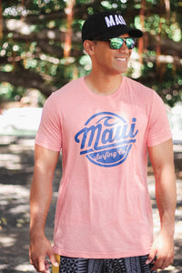 Maui Surfing Co. Tee - Sunrise Tri Blend