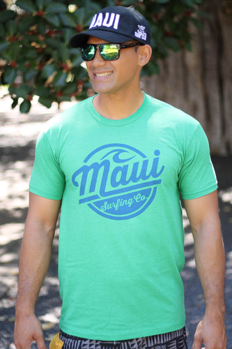 Maui Surfing Co. Tee - Kelly Green