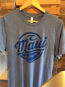 Maui Surfing Co. Tee-Blue Tri Blend