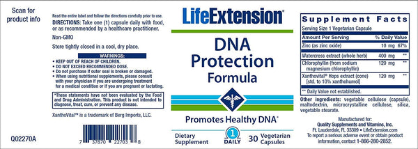 c5d105672 Life Extension DNA Protection Formula, 30 Vegetarian Capsules – Rudolph  Delivers