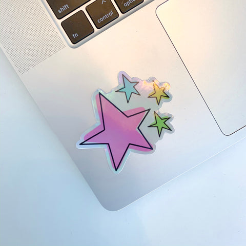 Holographic Stars Sticker
