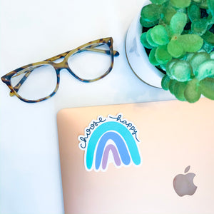 Choose Happy Rainbow Sticker