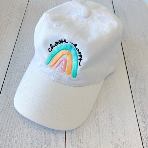 Choose Happy Rainbow Hat