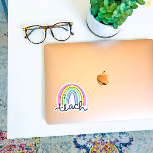 Teach Rainbow Sticker