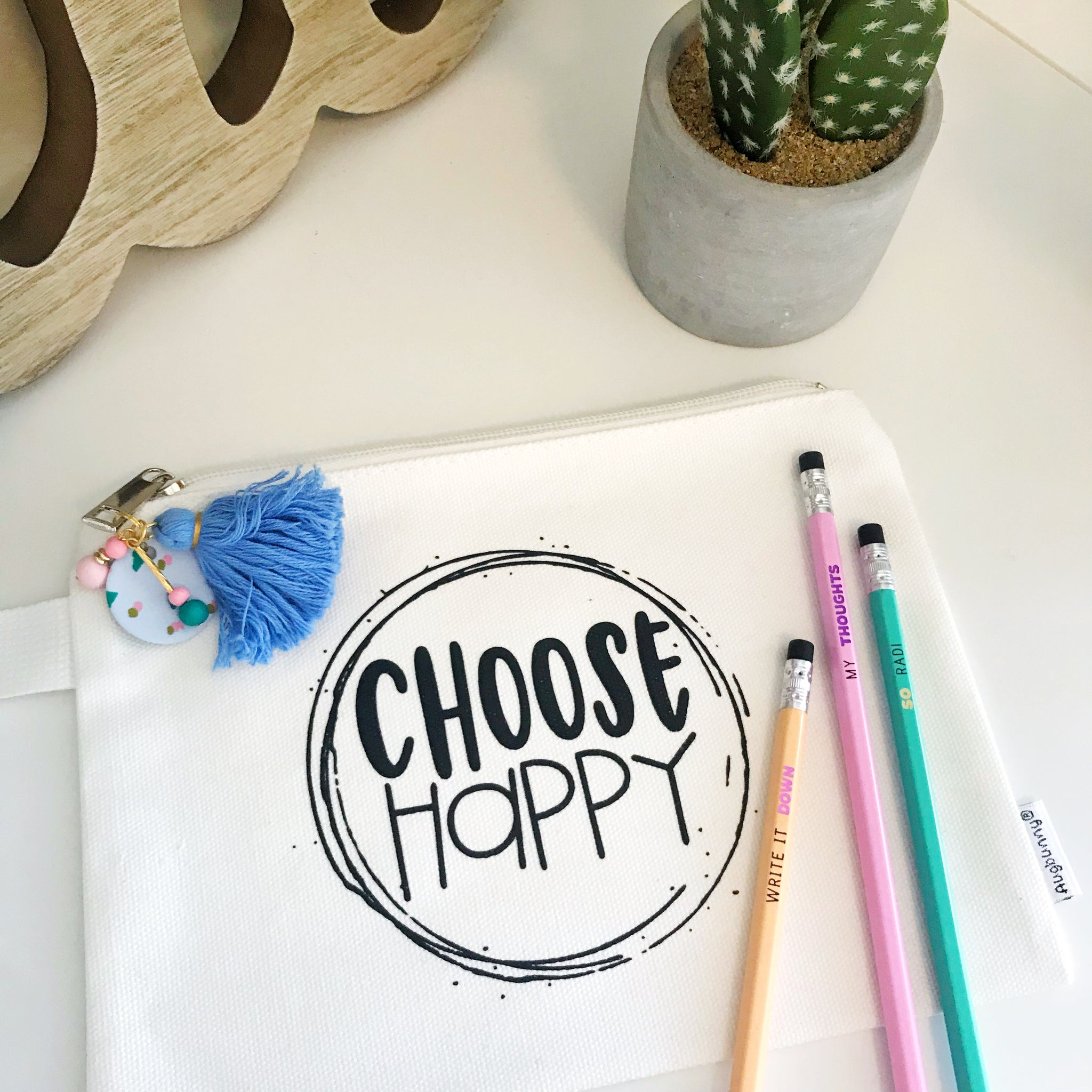 Choose Happy Pencil Pouch
