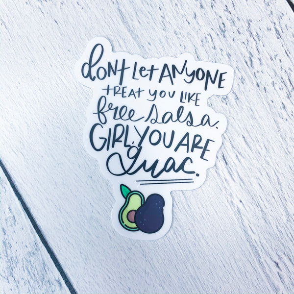 You are Guac Sticker