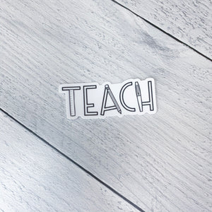 Teach Sticker
