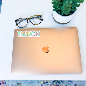 Tie Dye Teach Sticker