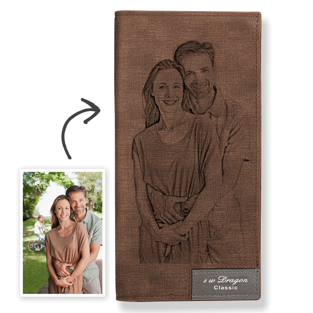Long Custom Photo Wallet Brown
