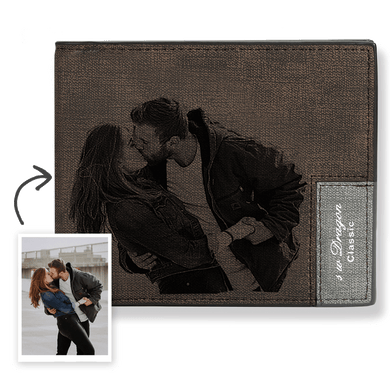 Short Custom Photo Wallet Brown