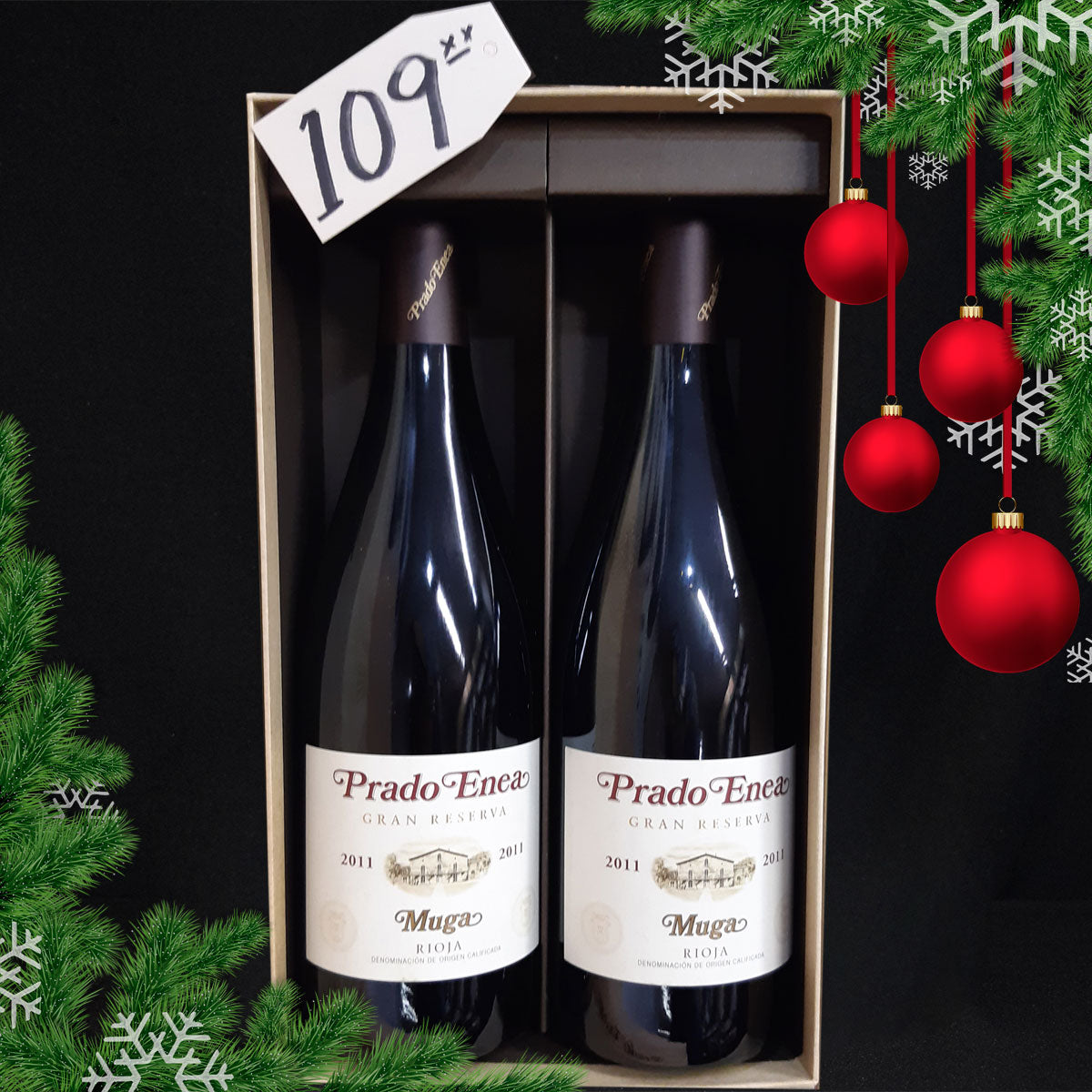 Pack Navideño: 2 botellas de Prado Enea con estuche - Wines and Copas Barcelona