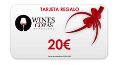 20€ Gift Card - Tarjeta de Regalo - Wines and Copas Barcelona