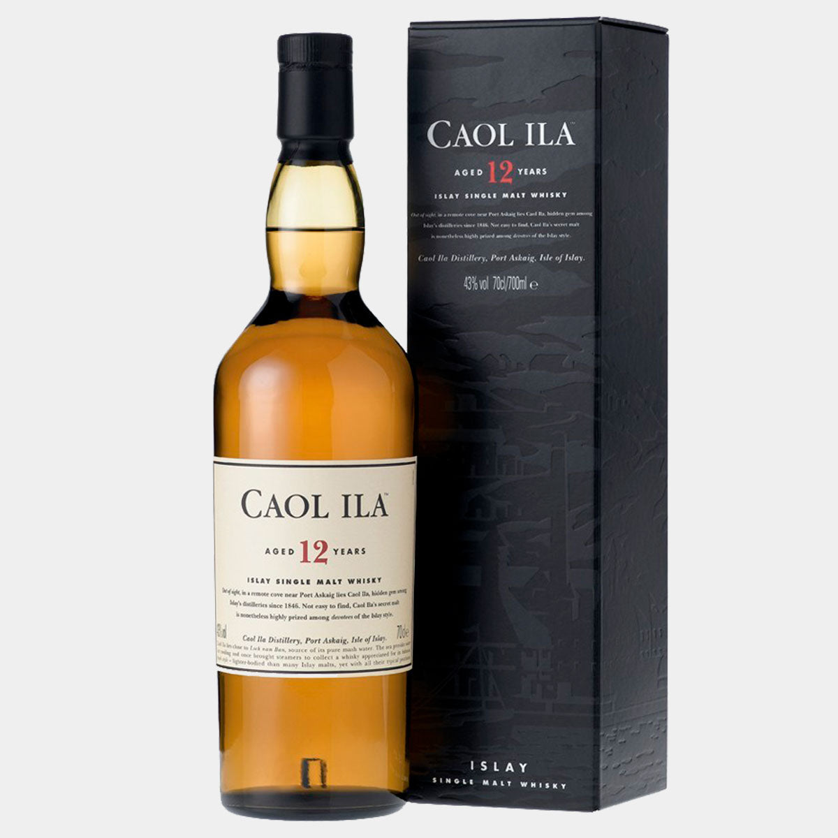 Whisky Caol Ila 12Y 70cl - Wines and Copas Barcelona