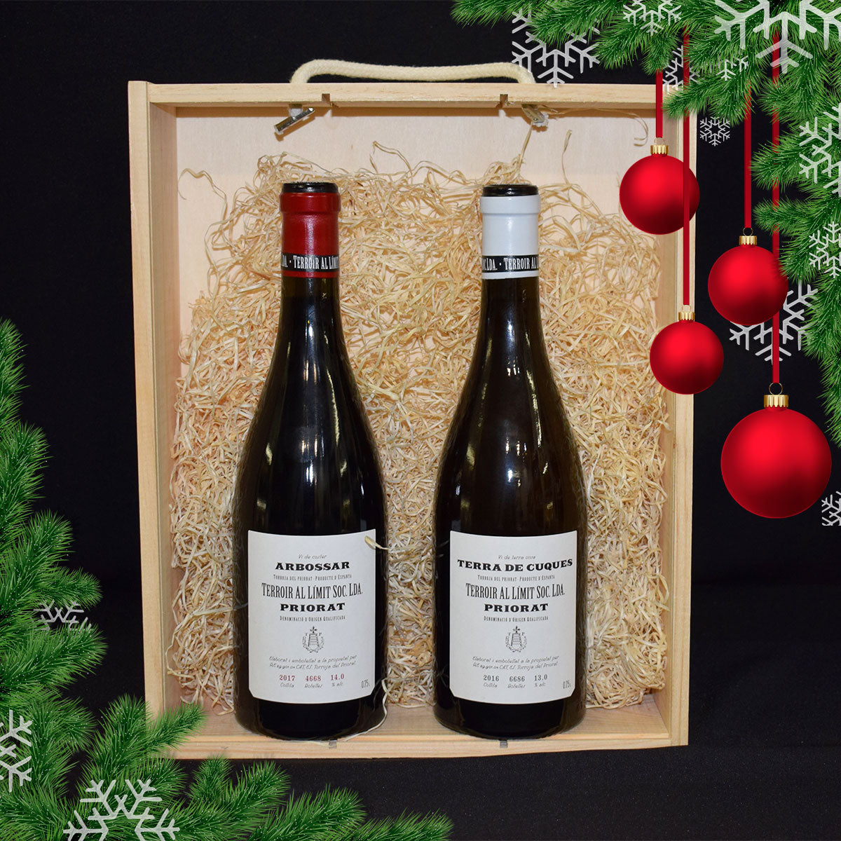 Pack Navideño: Priorat Blanco y Tinto - Wines and Copas Barcelona