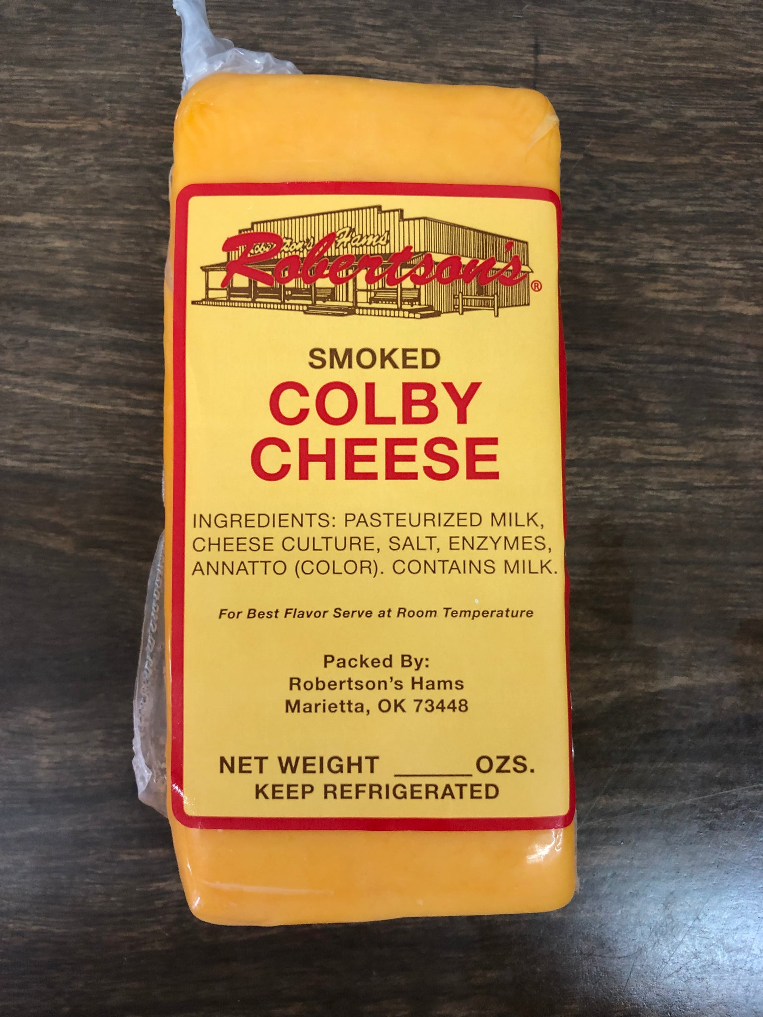Smoked Cheese- Colby or Pepperjack