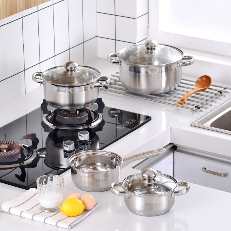 Batterie de Cuisine Induction en Inox Velaze
