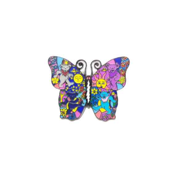 Grateful Dead Butterfly with Bears Pin