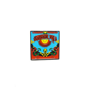 Grateful Dead Red Black Green Yellow Pin