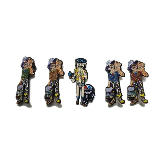 Gorillaz Hunter S. Thompson Mashup Pin Set